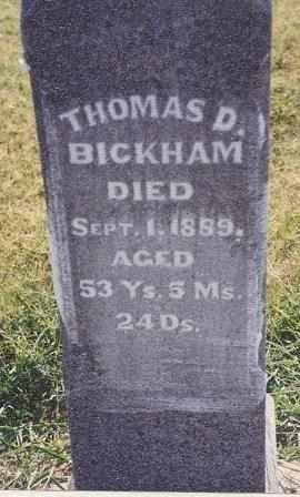 BICKHAM , THOMAS DAVIS, II - Labette County, Kansas   THOMAS DAVIS, II BICKHAM  - Kansas Gravestone Photos