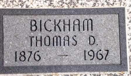 BICKHAM , THOMAS DAVIS, III - Labette County, Kansas   THOMAS DAVIS, III BICKHAM  - Kansas Gravestone Photos