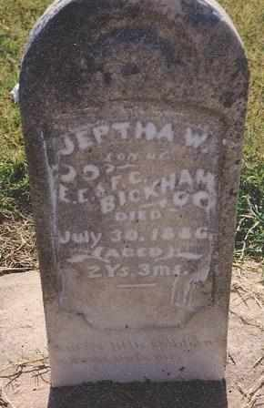 BICKHAM, JEPTHA WARD - Labette County, Kansas | JEPTHA WARD BICKHAM - Kansas Gravestone Photos