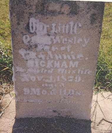 BICKHAM, ORION WESLEY - Labette County, Kansas   ORION WESLEY BICKHAM - Kansas Gravestone Photos