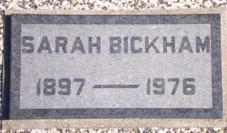 BICKHAM, SARAH JANE - Labette County, Kansas | SARAH JANE BICKHAM - Kansas Gravestone Photos