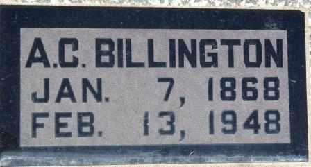 BILLINGTON, ALBERT CLEMENT - Labette County, Kansas   ALBERT CLEMENT BILLINGTON - Kansas Gravestone Photos
