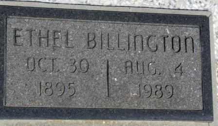 HOUCK BILLINGTON, ETHEL - Labette County, Kansas | ETHEL HOUCK BILLINGTON - Kansas Gravestone Photos
