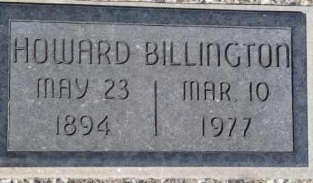 BILLINGTON, WILLIAM HOWARD - Labette County, Kansas | WILLIAM HOWARD BILLINGTON - Kansas Gravestone Photos