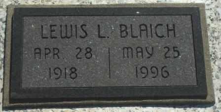 BLAICH, LEWIS L - Labette County, Kansas | LEWIS L BLAICH - Kansas Gravestone Photos