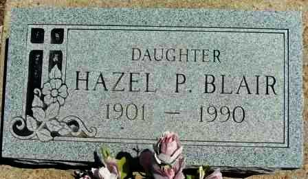 BLAIR, HAZEL P - Labette County, Kansas | HAZEL P BLAIR - Kansas Gravestone Photos