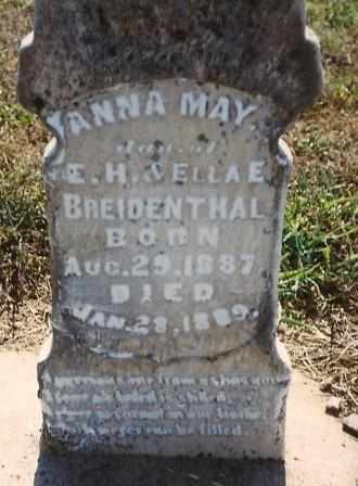 BREIDENTHAL, ANNA MAY - Labette County, Kansas | ANNA MAY BREIDENTHAL - Kansas Gravestone Photos