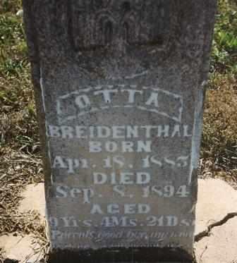 BREIDENTHAL, OTTA - Labette County, Kansas   OTTA BREIDENTHAL - Kansas Gravestone Photos