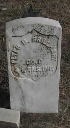 BRILLHART, PETER D   (VETERAN UNION) - Labette County, Kansas   PETER D   (VETERAN UNION) BRILLHART - Kansas Gravestone Photos