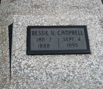 CAMPBELL, BESSIE V - Labette County, Kansas | BESSIE V CAMPBELL - Kansas Gravestone Photos