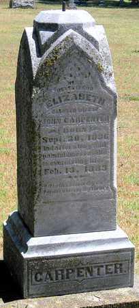 COCHRAN CARPENTER, ELIZABETH - Labette County, Kansas   ELIZABETH COCHRAN CARPENTER - Kansas Gravestone Photos
