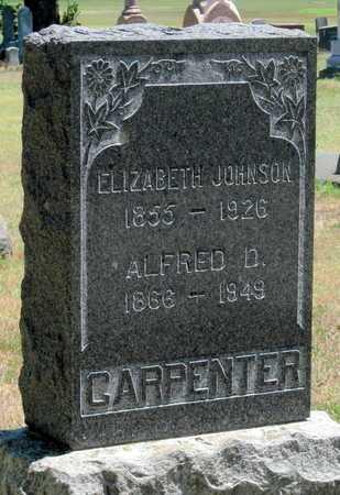 JOHNSON CARPENTER, ELIZABETH - Labette County, Kansas   ELIZABETH JOHNSON CARPENTER - Kansas Gravestone Photos