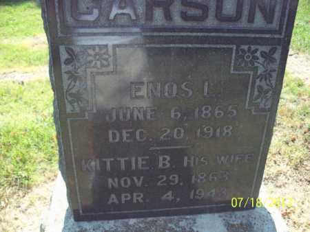 CARSON, KITTIE B - Labette County, Kansas   KITTIE B CARSON - Kansas Gravestone Photos
