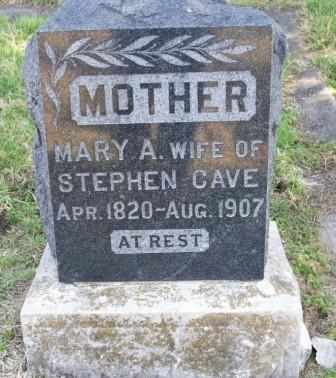 CAVE, MARY A - Labette County, Kansas | MARY A CAVE - Kansas Gravestone Photos