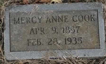 COOK, MERCY ANNE - Labette County, Kansas | MERCY ANNE COOK - Kansas Gravestone Photos