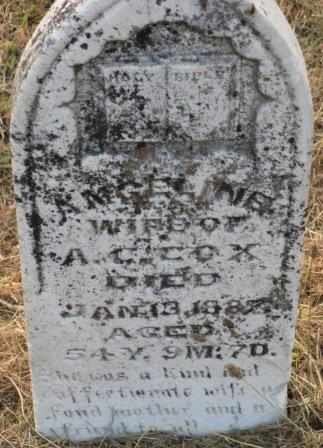 COX, ANGELINE - Labette County, Kansas   ANGELINE COX - Kansas Gravestone Photos