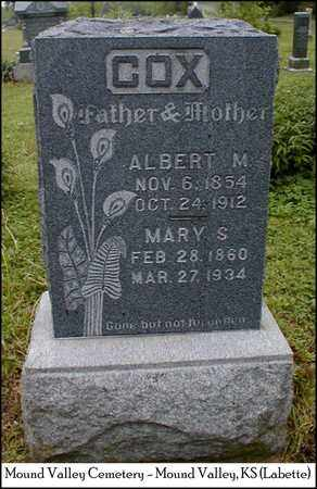 COX, ALBERT M - Labette County, Kansas | ALBERT M COX - Kansas Gravestone Photos
