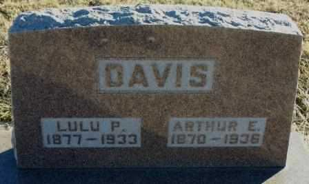 DAVIS, ARTHUR E - Labette County, Kansas | ARTHUR E DAVIS - Kansas Gravestone Photos