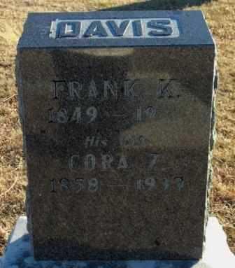 DAVIS, CORA Z - Labette County, Kansas | CORA Z DAVIS - Kansas Gravestone Photos