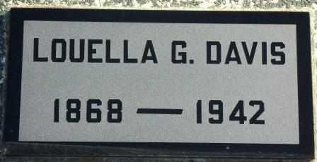 DAVIS, LOUELLA G - Labette County, Kansas   LOUELLA G DAVIS - Kansas Gravestone Photos