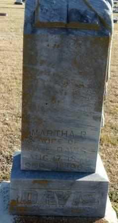 DAVIS, MARTHA B - Labette County, Kansas | MARTHA B DAVIS - Kansas Gravestone Photos