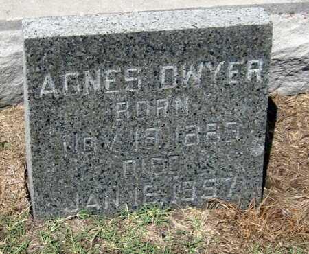 DWYER, AGNES - Labette County, Kansas   AGNES DWYER - Kansas Gravestone Photos