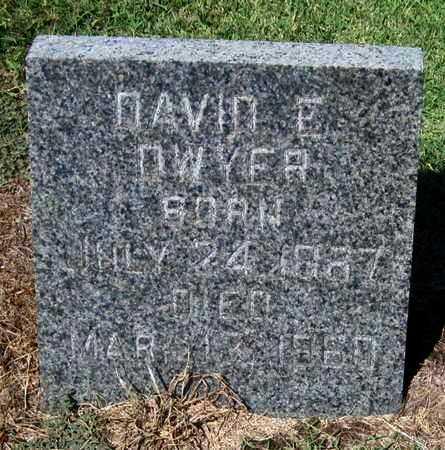 DWYER, DAVID E  (VETERAN 2 WARS) - Labette County, Kansas | DAVID E  (VETERAN 2 WARS) DWYER - Kansas Gravestone Photos