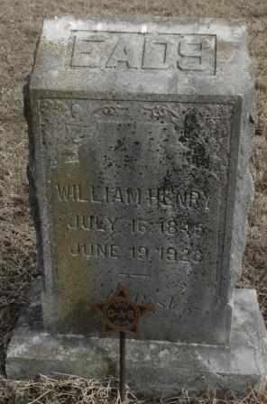EADS, WILLIAM HENRY  (VETERAN UNION) - Labette County, Kansas | WILLIAM HENRY  (VETERAN UNION) EADS - Kansas Gravestone Photos