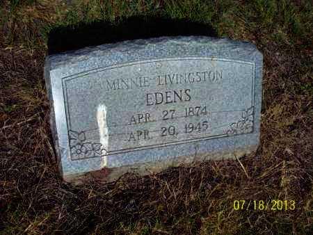 LIVINGSTON EDENS, MINNIE - Labette County, Kansas | MINNIE LIVINGSTON EDENS - Kansas Gravestone Photos