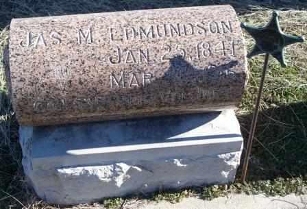 EDMUNDSON , JAMES M  (VETERAN UNION) - Labette County, Kansas   JAMES M  (VETERAN UNION) EDMUNDSON  - Kansas Gravestone Photos