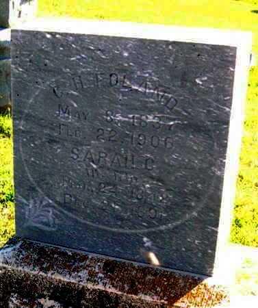 FOLAND, SARAH C - Labette County, Kansas | SARAH C FOLAND - Kansas Gravestone Photos