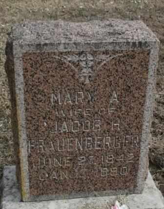 FRAUENBERGER, MARY A - Labette County, Kansas | MARY A FRAUENBERGER - Kansas Gravestone Photos