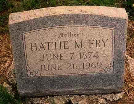 FRY, HATTIE MATILDA - Labette County, Kansas   HATTIE MATILDA FRY - Kansas Gravestone Photos