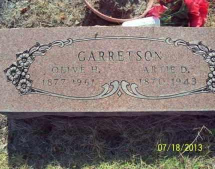 GARRETSON, ARTIE D - Labette County, Kansas | ARTIE D GARRETSON - Kansas Gravestone Photos