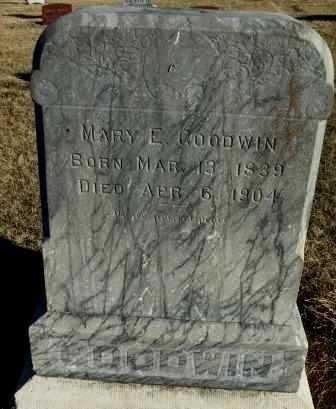 GOODWIN, MARY E - Labette County, Kansas | MARY E GOODWIN - Kansas Gravestone Photos