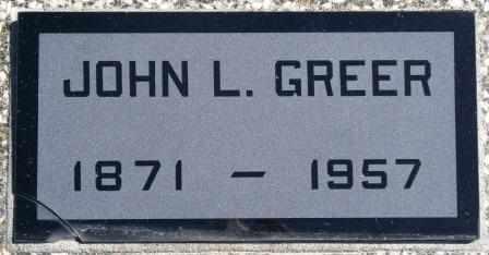 GREER, JOHN LEWIS - Labette County, Kansas   JOHN LEWIS GREER - Kansas Gravestone Photos