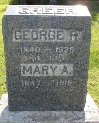 HILL GREER, MARY ANN - Labette County, Kansas | MARY ANN HILL GREER - Kansas Gravestone Photos