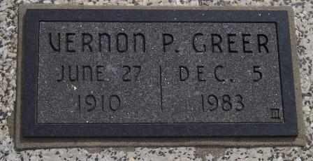 GREER, VERNON PAUL - Labette County, Kansas   VERNON PAUL GREER - Kansas Gravestone Photos