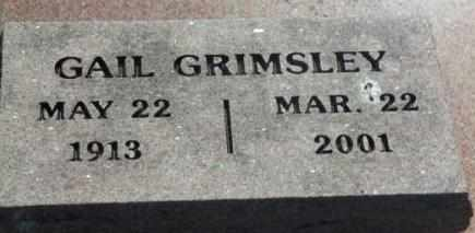 GRIMSLEY, GAIL - Labette County, Kansas | GAIL GRIMSLEY - Kansas Gravestone Photos