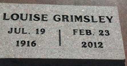 GRIMSLEY, LOUISE ANNABELLE - Labette County, Kansas   LOUISE ANNABELLE GRIMSLEY - Kansas Gravestone Photos