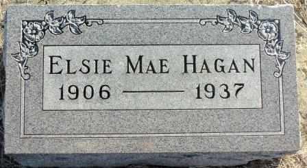 HAGAN, ELSIE MAE - Labette County, Kansas | ELSIE MAE HAGAN - Kansas Gravestone Photos