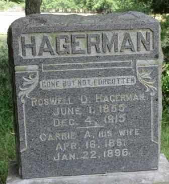 HAGERMAN, ROSWELL D - Labette County, Kansas | ROSWELL D HAGERMAN - Kansas Gravestone Photos