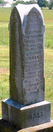 HALL  , MARTHA JANE HASELTINE - Labette County, Kansas   MARTHA JANE HASELTINE HALL   - Kansas Gravestone Photos