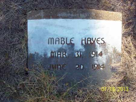 HAYES, MABLE - Labette County, Kansas | MABLE HAYES - Kansas Gravestone Photos