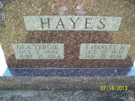 HAYES, OLA VERGIE - Labette County, Kansas | OLA VERGIE HAYES - Kansas Gravestone Photos