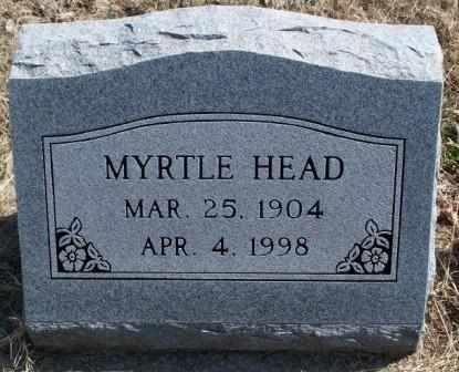 FRY HEAD, MYRTLE VIOLA - Labette County, Kansas   MYRTLE VIOLA FRY HEAD - Kansas Gravestone Photos