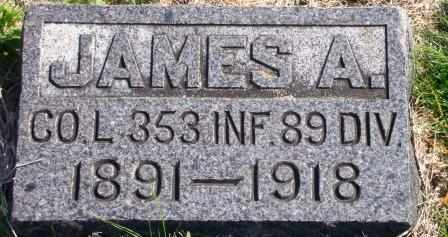 HOBSON, JAMES ARTHUR  (VETERAN WWI, KIA) - Labette County, Kansas | JAMES ARTHUR  (VETERAN WWI, KIA) HOBSON - Kansas Gravestone Photos