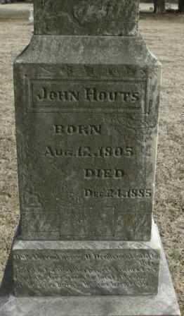 HOUTS, JOHN - Labette County, Kansas   JOHN HOUTS - Kansas Gravestone Photos