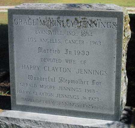 MCKINLEY JENNINGS, GRACE - Labette County, Kansas | GRACE MCKINLEY JENNINGS - Kansas Gravestone Photos