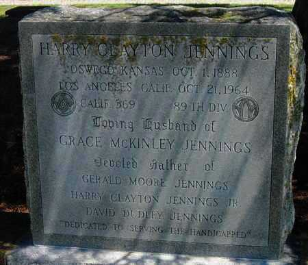 JENNINGS, HARRY CLAYTON - Labette County, Kansas   HARRY CLAYTON JENNINGS - Kansas Gravestone Photos